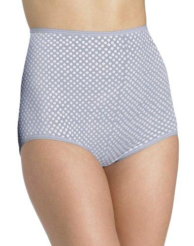 Cut Skirt Cotton Bias (Bali Women's Skimp Skamp Brief Panty Number 2633, Grey Eyes Print, 6)
