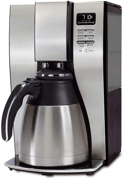 DJY-JY Filtro de café de la máquina, 1.2L Capacidad de Producción Cafetera programable 24 Horas Temporizador con ...