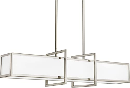 Progress Lighting P3898-09 Contemporary Modern Four Light Linear Pendant from Haven Collection