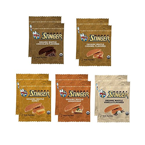 Honey Stinger Organic Waffle, Sample Pack, 10 ()