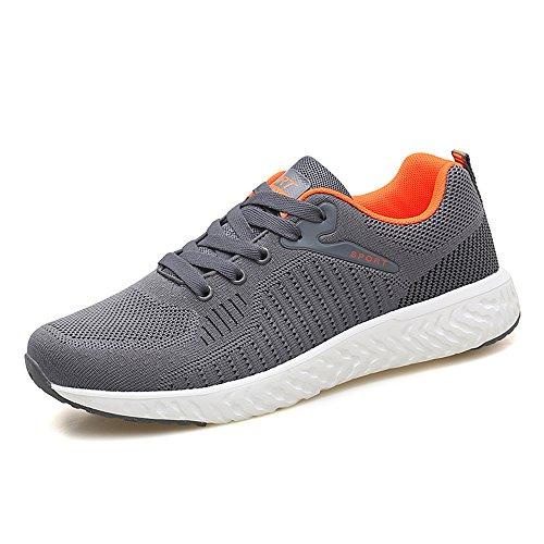 Chaussures Décontractées pour Les Hommes Les Espadrilles de Mode des Hommes Lacent des Chaussures de Course extérieures Légères Grey 18621 s0nyatbT