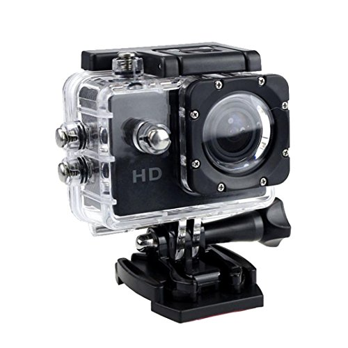 1080P Action Sports Camera -Self Timer,Tuscom Waterproof ( 30 Meters Under Water) Action Camera (2.0 Inch Ultra HD Screen)Camcorder HD 1080P Mini DV Cam+ Parts for Gopro (Black)
