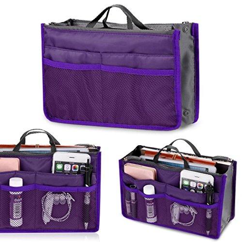 Pesters Fashion Women Multifunction Travel Cosmetic Makeup Insert Pouch Toiletry Organizer Handbag Storage Purse