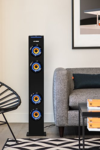 art sound ar1004 wall powered bluetooth tower speaker with import it all. Black Bedroom Furniture Sets. Home Design Ideas