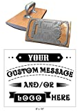 8'' x 10'' Extra Large Custom''Rocker Mount'' Wood Hand Rubber Stamp with Heavy Duty Metal Handle