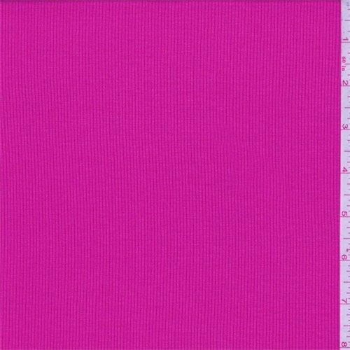 Knit Material Rib (Hot Pink Rayon Rib Knit, Fabric by The Yard)