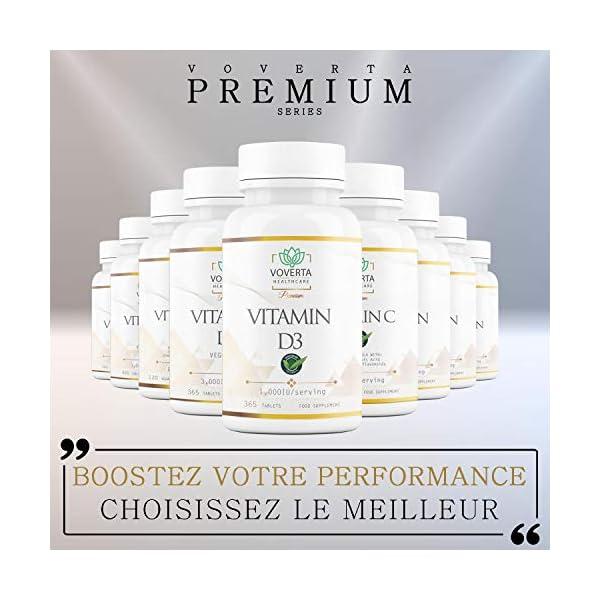 Vitamine D3 1000 UI – 365 comprimés de vitamine d 100% végétarienne | défenses immunitaires naturelles – Santé des os…