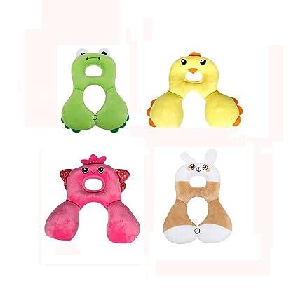 Kaninchen Inchant Cartoon-Tierform-Baby-Kind-Auto-Sitzkissen Kopfst/ütze Kleinkinder Soft-Kopf-Hals-Unterst/ützung f/ür Reise und Kinderwagen