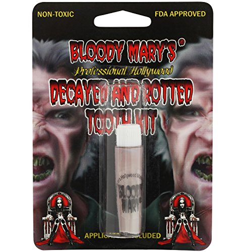 Zombie Tooth Decay Paint For Theater, Costume, Halloween, Vampire By Bloody (Easy Gross Halloween Costumes)