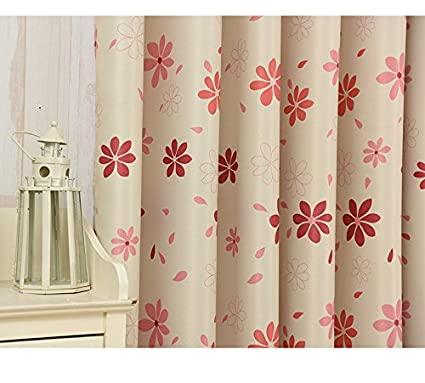 Seven Leaf Flowers Blackout Curtain Fabric Only 28m 110 Wide Sold By The Yard