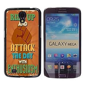 Dragon Case - FOR Samsung Galaxy Mega 6.3 - ?ignore those we love - Caja protectora de pl??stico duro de la cubierta Dise?¡Ào Slim Fit
