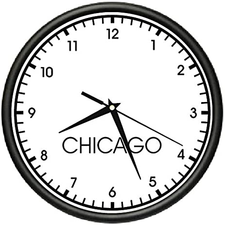 wall clock for office. CHICAGO TIME Wall Clock World Time Zone Office Business For 2