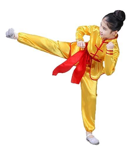 Seda Los Niños Tai Chi Uniformes Manga Larga Wing Chun ...