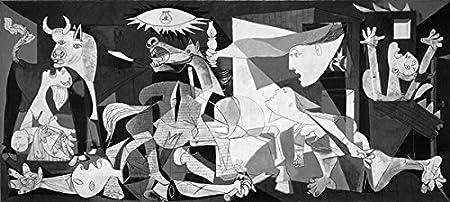 L 'affiche Illustre 'e Picasso Guernica Offset sobre Gr. 300especial papel cm. 100x 50Código 030853...