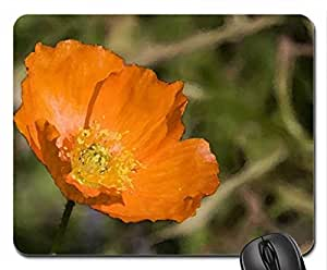 Orange Poppy Mouse Pad, Mousepad (Flowers Mouse Pad, Watercolor style) by icecream design