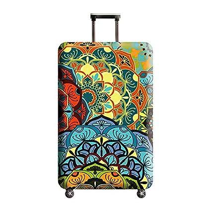 L JUNGEN Housse de Valise Motif Floral Couverture de Luggage boh/émien Cover en Polyester Voyage Bagage Trolley Case Cover Protector