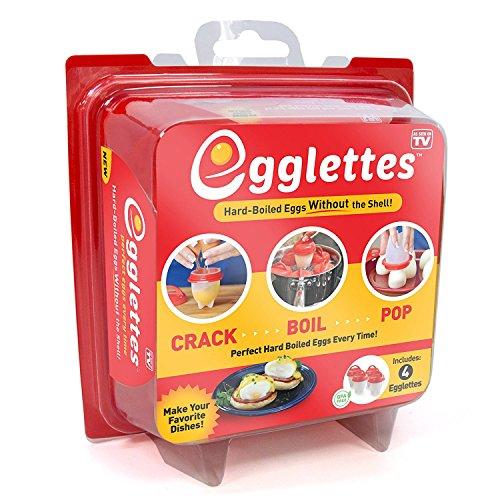 Egglettes - Egg Cooker Hard & Soft Maker, No Shell, Non Stick Silicone, Poacher, Boiled, Steamer, AS SEEN ON TV
