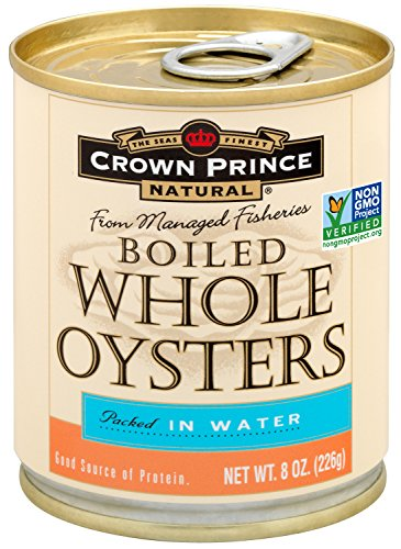 Crown Prince Natural Whole Boiled Oysters, 8-Ounce Cans (Pack of (Whole Oysters)