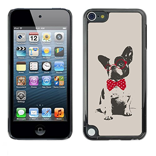 Smartphone Protective Case Hard Shell Cover for Cellphone Apple iPod Touch 5 / CECELL Phone case / / Boston terrier pug polka dot red grey / ()