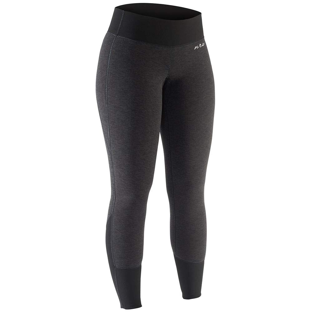 NRS Women's HydroSkin 1.5 Charcoal Heather Black L by NRS