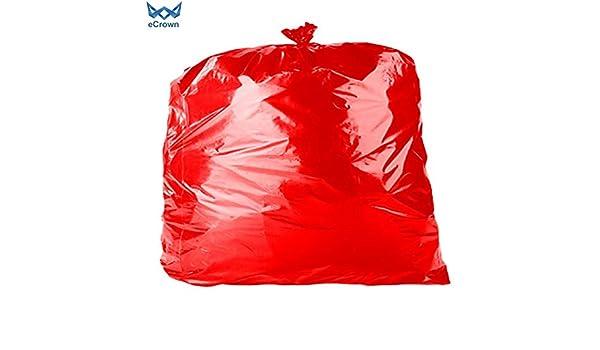 eCrown - Bolsas de basura (200 unidades), color rojo: Amazon ...