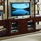 Hooker Furniture 388-70-641 Danforth 56'' Gaming Console, Dark Wood