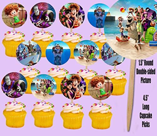 Hotel Transylvania 3 Cupcake Topper Picks Cake Beach Party, 12 Pcs
