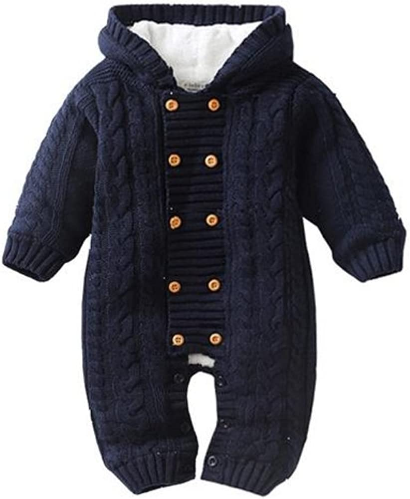 Stesti Winter Coat For Baby Boy 3-6 Months Knitted Jumpsuit Winter Coat For Baby Boy 12 Months