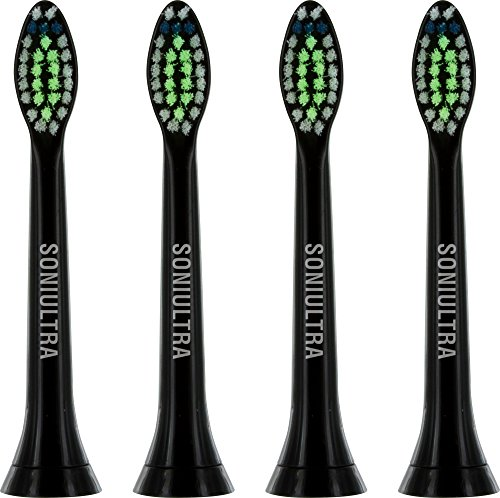 Soniultra 4 Pack Replacement for Diamond Clean Toothbrush Heads HX6064/94 Philips Sonicare Compatible Model Electric Head Series plaque control DiamondClean FlexCare HealthyWhite Electronic Brush