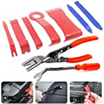 Anyyion Auto Panels Trim Removal Tool, 9Pcs Trim Tool for Door Panel Removal Tools or Auto Upholstery Tools or Clip Plier Set (9 PCS)