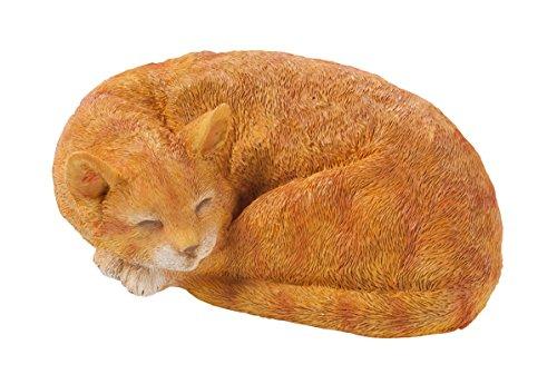 Cat Yard Art (Resin Sleeping Cat Statue)