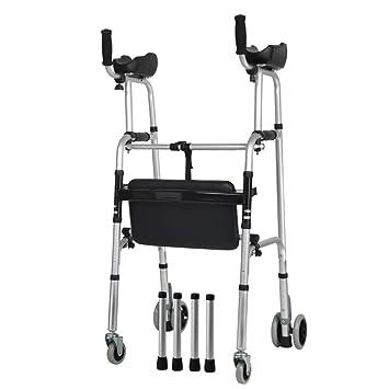 Amazon.com: Andador con ruedas y asiento para personas ...