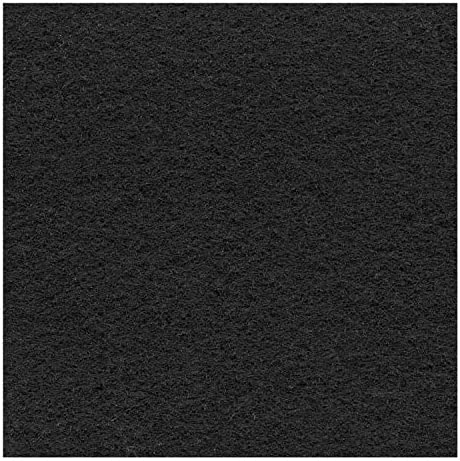 DECOWEB Moquette Stand Expo 2m x 50m = 100 m/² Noir