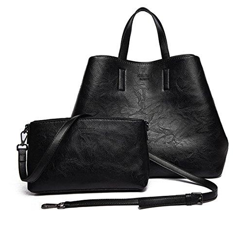 de mano clutches Shoppers Fekete Mujer de Bolsos bolsos y y hombro bandolera Carteras atqqHUxwZ