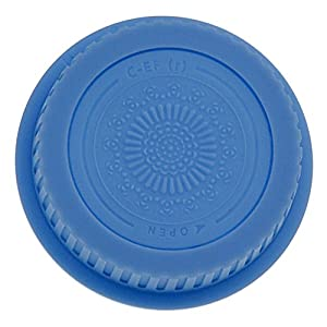 Fotodiox Designer (Blue) Lens Rear Cap Compatible with Canon EOS EF and EF-S Lenses (Color: Blue)