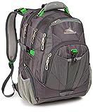 High Sierra XBT TSA Laptop Backpack, Charcoal/Silver/Kelly
