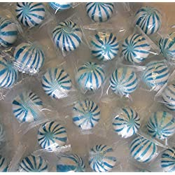 Blue n White Crazy Candy Balls 1 Pound