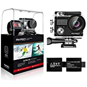 #LightningDeal AKASO Brave 4 4K 20MP WiFi Action Camera Ultra HD with EIS 30m Underwater Waterproof Camera Remote Control 5X Zoom Underwater Camcorder with 2 Batteries and Helmet Accessories Kit