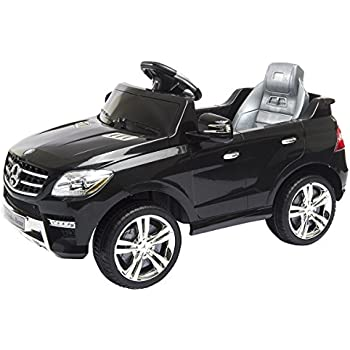 costzon mercedes benz ml350 6v ride on car electric kids car with parental remote control led headlights horn mp3 input black
