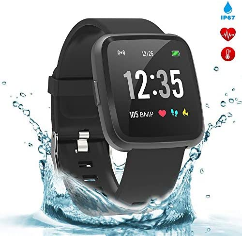 BingoFit Legend Smart Watch Fitness Activity Tracker 1.3 IPS Color Screen Fitness Watch with Blood Pressure Oxygen Heart Rate Sleep Calorie Monitor Pedometer Watch for Women Men Kids-Black