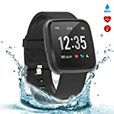 BingoFit Legend Smart Watch Fitness Tracker, Activity Tracker with Blood Pressure Blood Oxygen, Health Tracker Smartwatch with Sleep Monitor Heart Rate Calorie Counter for Women Men Kids(Black)