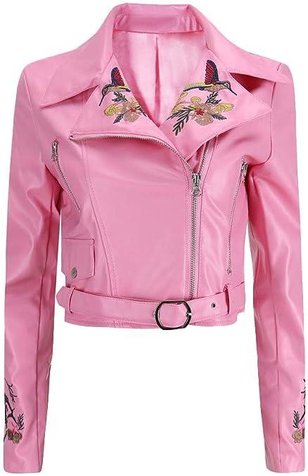 Beladla Chaqueta Mujer Moto Chaquetas Mujer De Cuero Moto Vintage ...