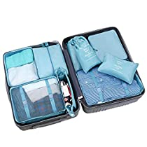 9 Set Packing Cubes, LC-dolida Luggage Organizer Bag with Shoes Bag