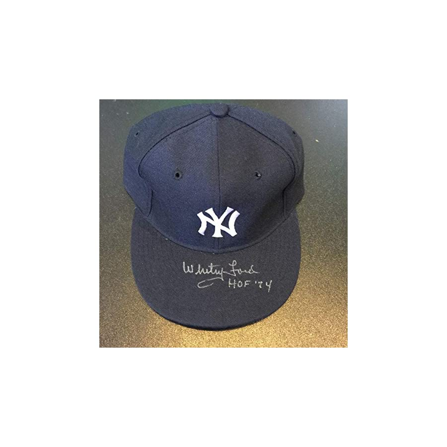"""Whitey Ford""""HOF 1974"""" Signed Game Model New York Yankees Hat COA PSA/DNA Certified Autographed Hats"""