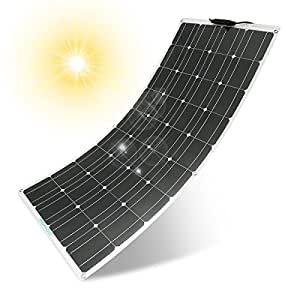 Solar Panel MOHOO 100W 18V Ultra Thin Lightweight Flexible Solar Charger Panels with MC4 Connectors for RV Boat Cabin Tent Car(Updated)