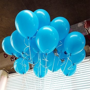 Receptions or Any Celebration Baby Showers Adult Birthdays Neo LOONS 12 Pearl Light Blue Premium Latex Balloons Great for Kids Pack of 100 Water Fights Weddings