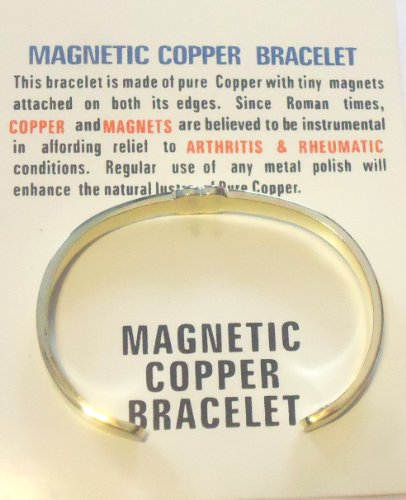 - Pure Copper Tiny Magnets Bracelet Believed Offer Relief Certain Diseases