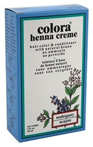 Colora Henna Creme Hair Color Mahogany 2oz (3 Pack)