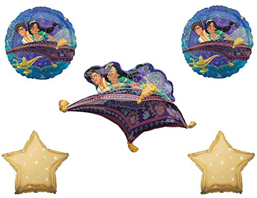 Aladdin 5 pc Birthday Party Balloons Decorations Supplies
