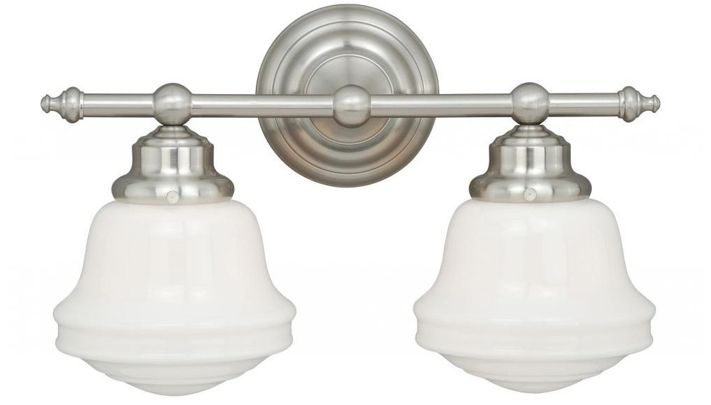 Vaxcel W0169 Huntley 2 Light Vanity Light, Satin Nickel Finish      Amazon.com